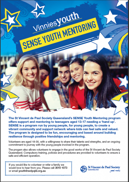 SENSE Youth Mentoring - Vinnies Youth